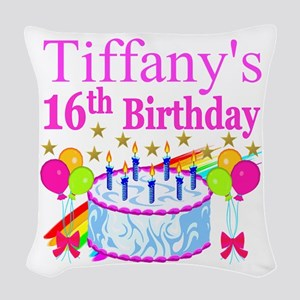 PERSONALIZED 16TH Woven Throw Pillow