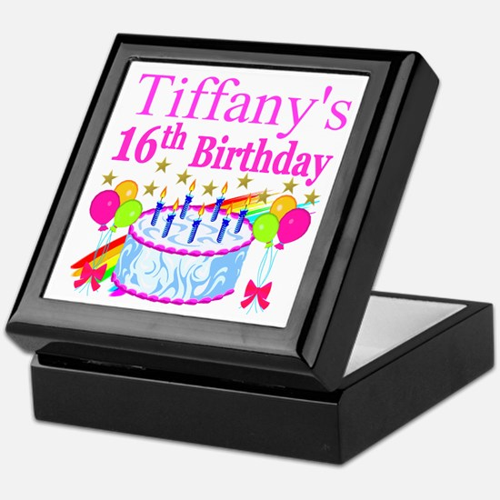 PERSONALIZED 16TH Keepsake Box