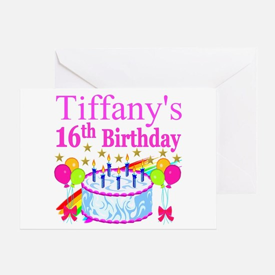 PERSONALIZED 16TH Greeting Card
