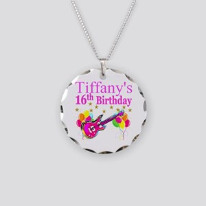 PERSONALIZED 16TH Necklace Circle Charm