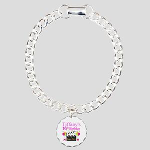 PERSONALIZED 16TH Charm Bracelet, One Charm