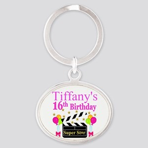 PERSONALIZED 16TH Oval Keychain