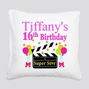 PERSONALIZED 16TH Square Canvas Pillow