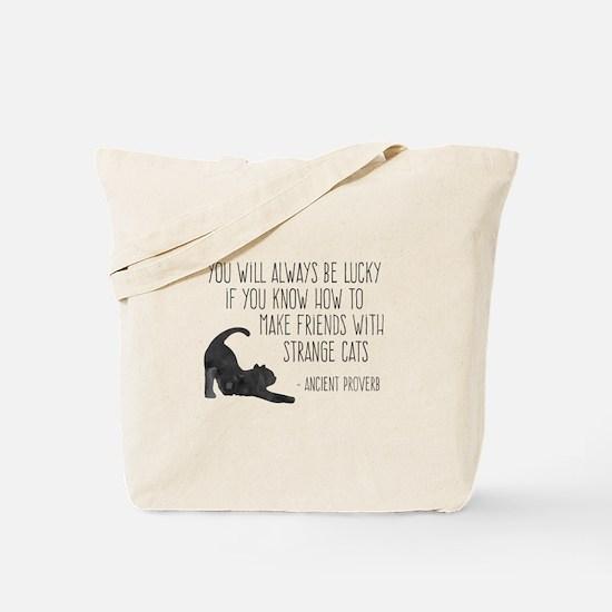 Strange Cats Tote Bag