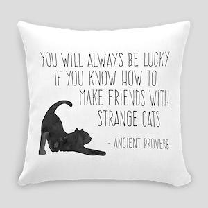 Strange Cats Everyday Pillow