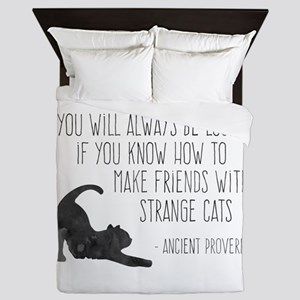 Strange Cats Queen Duvet