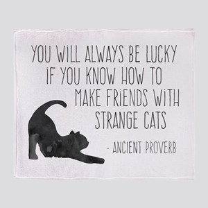 Strange Cats Throw Blanket
