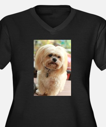 Koko blond lhasa Plus Size T-Shirt