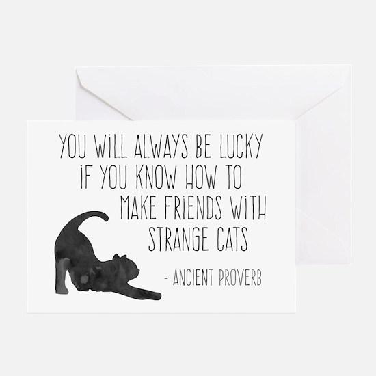 Strange Cats Greeting Cards