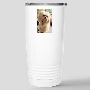 Koko blond lhasa Stainless Steel Travel Mug