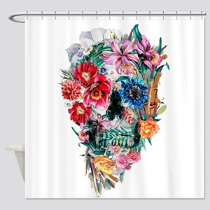 Skull Momento Mori VI Shower Curtain