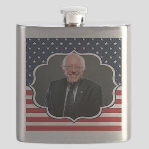bernie sanders flag Flask