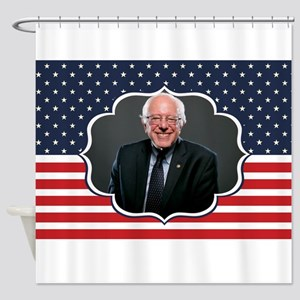 bernie sanders flag Shower Curtain