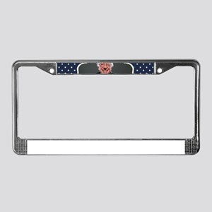 bernie sanders flag License Plate Frame
