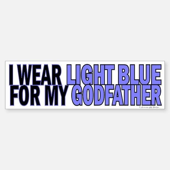 I Wear Light Blue For My Godfather 5 Bumper Bumper Sticker