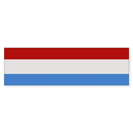 """Luxembourg Flag"" Bumper Sticker"