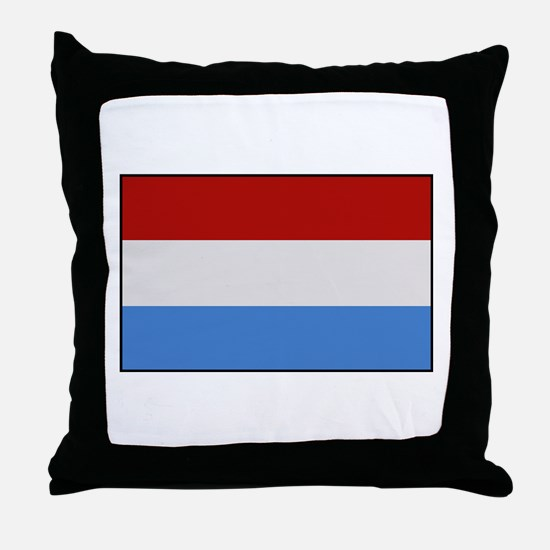 """Luxembourg Flag"" Throw Pillow"