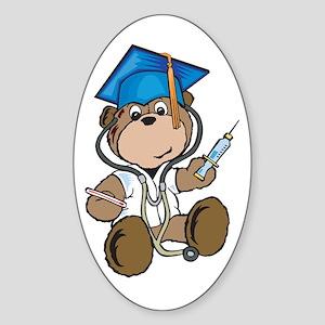 Nurse Graduation Oval Sticker