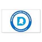 Franklin Democratic Town Committee Logo Sticker