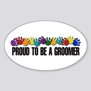 Proud To Be A Groomer Oval Sticker
