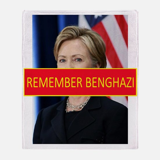Remember Benghazi Throw Blanket