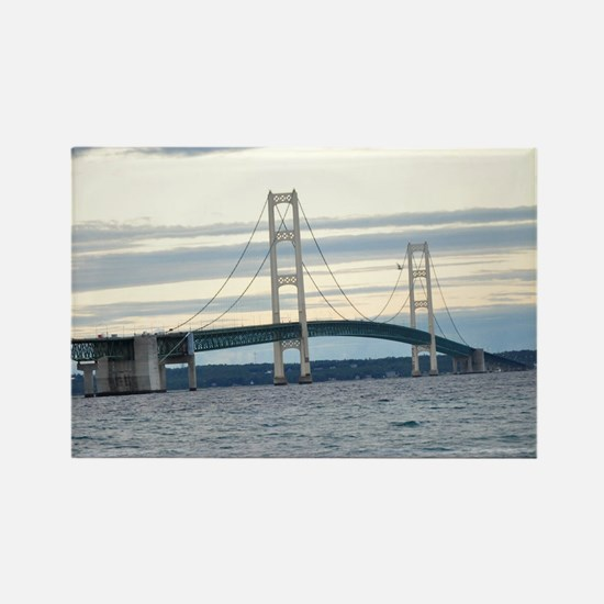 Funny Mackinac bridge Rectangle Magnet