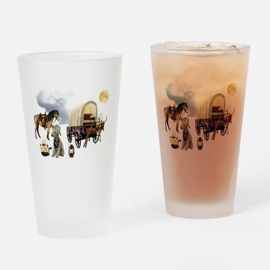 Cowboy Bedlington Terrier Drinking Glass