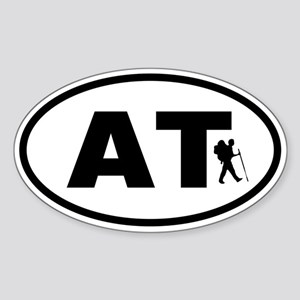 Appalachian Trail Hiker Oval Sticker