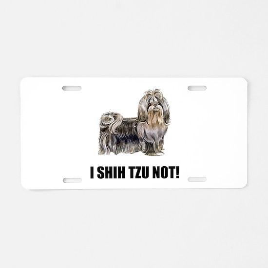 Shih Tzu Not Aluminum License Plate