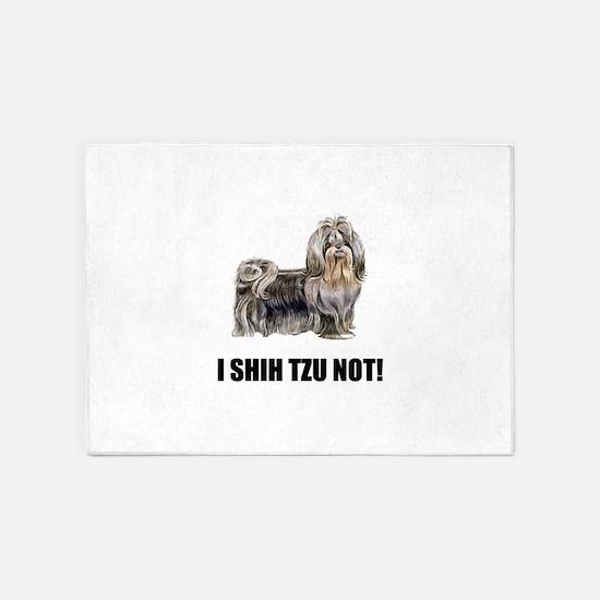 Shih Tzu Not 5'x7'Area Rug