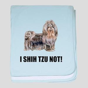 Shih Tzu Not baby blanket