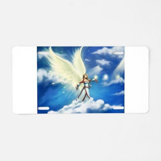 Angel skies Aluminum License Plate