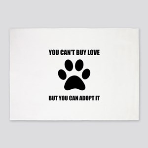 Adopt Love 5'x7'Area Rug