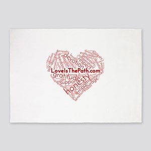 Love Is The Path 5'x7'Area Rug