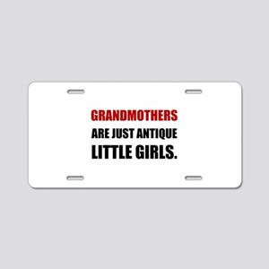 Grandmother Antique Girl Aluminum License Plate