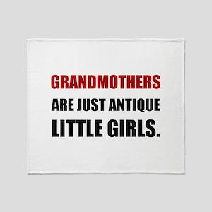 Grandmother Antique Girl Throw Blanket