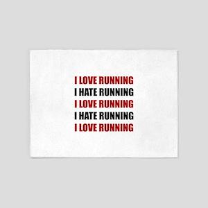 Love Hate Running 5'x7'Area Rug