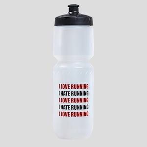 Love Hate Running Sports Bottle