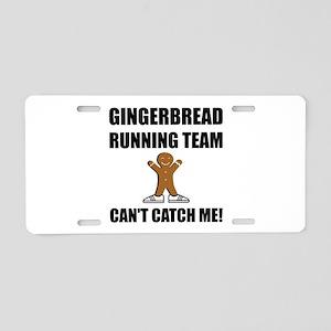 Gingerbread Running Team Aluminum License Plate