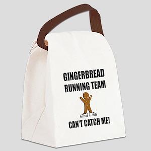 Gingerbread Running Team Canvas Lunch Bag