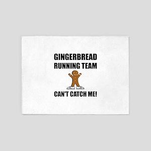Gingerbread Running Team 5'x7'Area Rug
