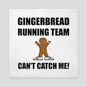 Gingerbread Running Team Queen Duvet