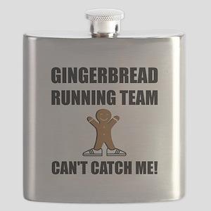 Gingerbread Running Team Flask