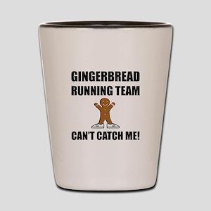 Gingerbread Running Team Shot Glass