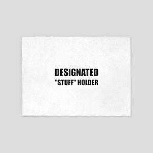 Designated Stuff Holder 5'x7'Area Rug