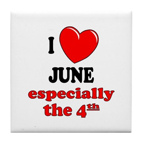 June 4th Tile Coaster