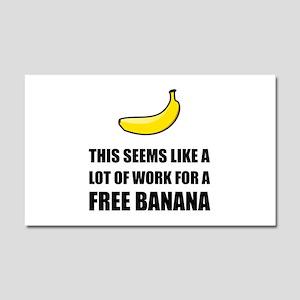 Free Banana Car Magnet 20 x 12