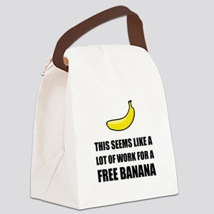 Free Banana Canvas Lunch Bag