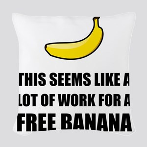 Free Banana Woven Throw Pillow