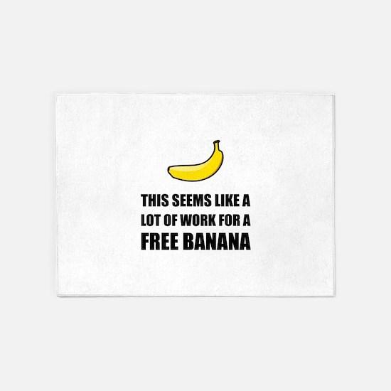 Free Banana 5'x7'Area Rug